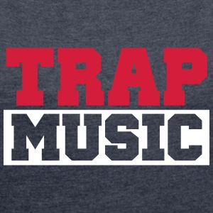 TRAP MUSIC - BASS PARTY Tee shirts - T-shirt Femme à manches retroussées