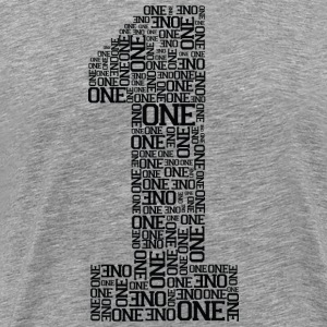 Number One (Typography) T-Shirts - Men's Premium T-Shirt