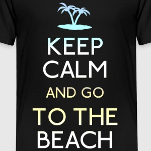 keep calm beach Shirts - Kids' Premium T-Shirt