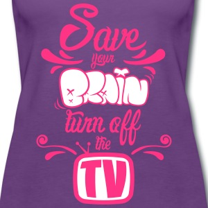 Turn Off The TV Tops - Women's Premium Tank Top