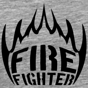 Fire flames firefighter T-Shirts - Men's Premium T-Shirt