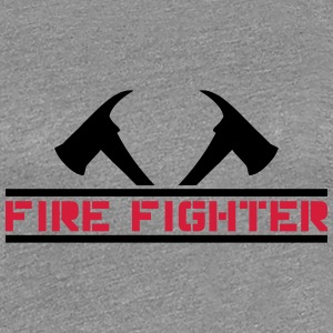 2 fire axes firefighter T-Shirts - Women's Premium T-Shirt