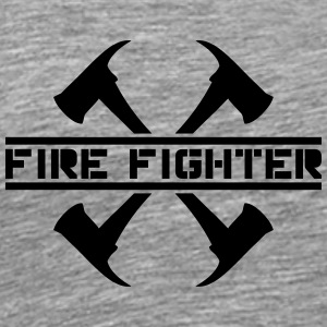 2 fire axes firefighter T-Shirts - Men's Premium T-Shirt