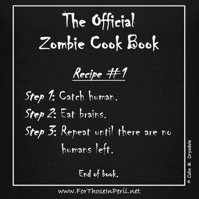 Children's T Shirt - The Official Zombie Cook Book
