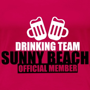 Drinking Team Sunny Beach T-Shirts - Women's Premium T-Shirt