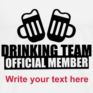 Drinking Team Party Crew T-Shirts - Men's Premium T-Shirt