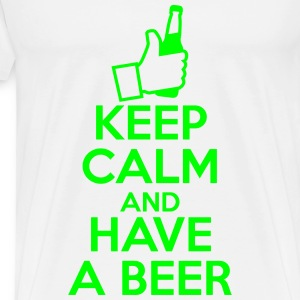 Keep Calm and Have a beer Tee shirts - T-shirt Premium Homme