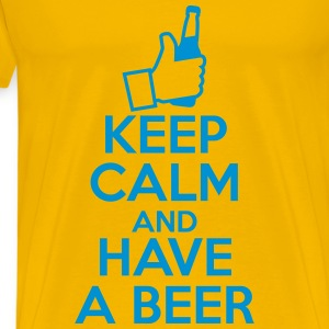 Keep Calm and Have a beer T-shirts - Premium-T-shirt herr