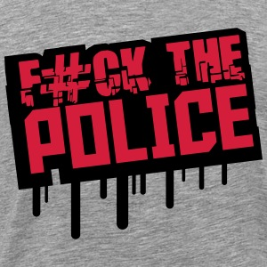 Fuck The Police Graffiti Stempel T-Shirts - Men's Premium T-Shirt