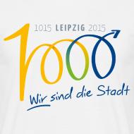 Motiv ~ Männer T-Shirt 1000 Jahre Leipzig bunt