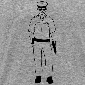 Cool police man guy T-Shirts - Men's Premium T-Shirt