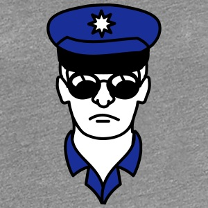 Cool police man face head T-Shirts - Women's Premium T-Shirt