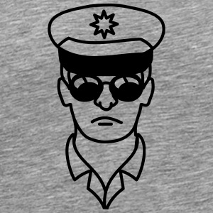 Cool police man face head T-Shirts - Men's Premium T-Shirt