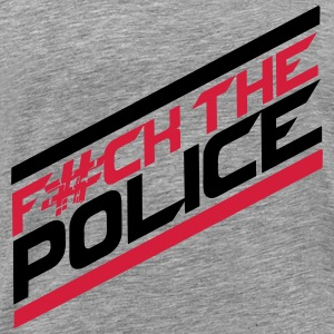 Cool Fuck The Police Logo Design T-Shirts - Men's Premium T-Shirt