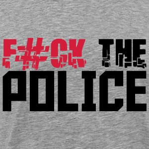 Cool Fuck la Police Design Tee shirts - T-shirt Premium Homme