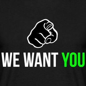 we want you Koszulki - Koszulka męska