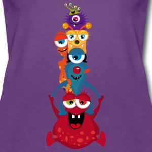 A colorful Monster family Tops - Women's Premium Tank Top