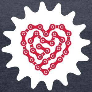 Love My Bike T-Shirts - Women's T-shirt with rolled up sleeves