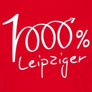 Motiv ~ Männer T-Shirt 1000% Leipziger