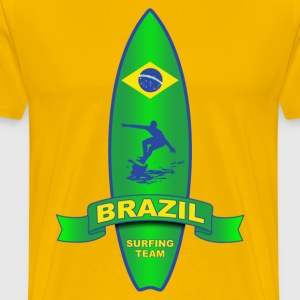 brazil surfing team 04 T-Shirts - Men's Premium T-Shirt