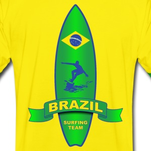 brazil surfing team 04 Tee shirts - T-shirt contraste Homme