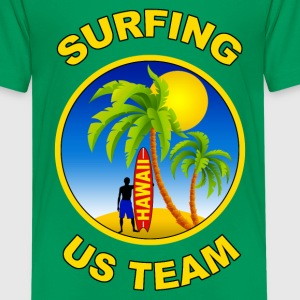 surfing us team Shirts - Teenage Premium T-Shirt