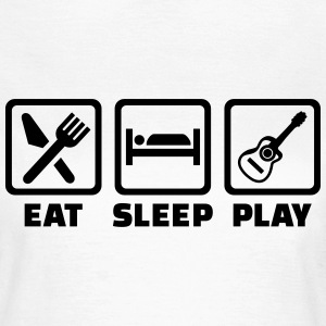 Eat sleep Gitarre T-Shirts - Frauen T-Shirt