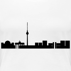 Berliner Skyline T-Shirts - Frauen Premium T-Shirt