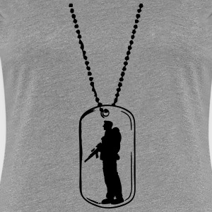 Dog tag soldier dog tag T-Shirts - Women's Premium T-Shirt