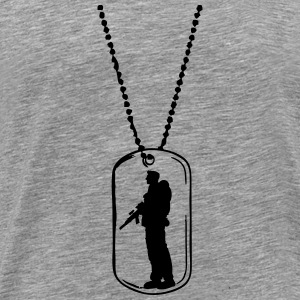 Dog tag soldier dog tag T-Shirts - Men's Premium T-Shirt