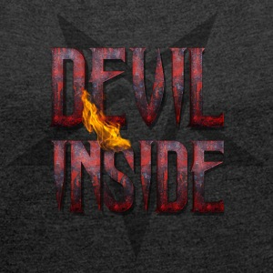 DEVIL INSIDE - Satan / Horror / Devil T-Shirts - Women's T-shirt with rolled up sleeves