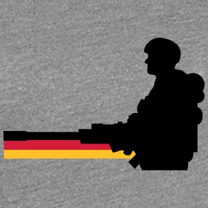 Germany flag soldier T-Shirts - Women's Premium T-Shirt