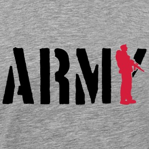 ARMY stamp soldier T-Shirts - Men's Premium T-Shirt