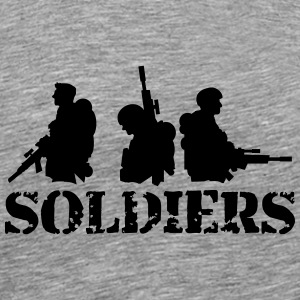 3 soldiers crew friends Heroes team T-Shirts - Men's Premium T-Shirt