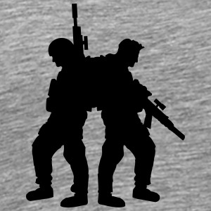 2 soldiers friends team crew T-Shirts - Men's Premium T-Shirt