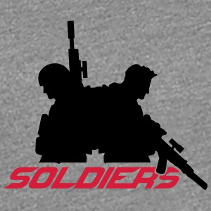 2 soldiers friends crew team T-Shirts - Women's Premium T-Shirt