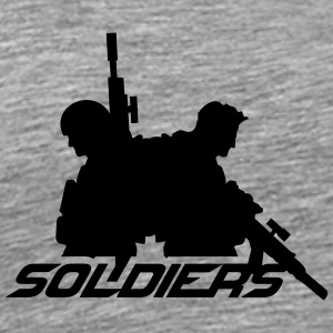 2 soldiers friends crew team T-Shirts - Men's Premium T-Shirt