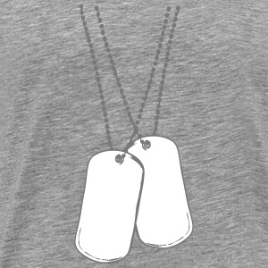 2 dog tags dog tags T-Shirts - Men's Premium T-Shirt