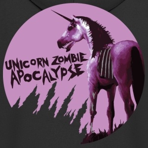 Unicorn Zombie Apocalypse Hoodie - Men's Premium Hooded Jacket