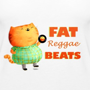 Fatty Fatty Fat Reggae Cat Tops - Women's Premium Tank Top