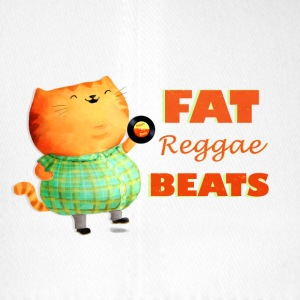 Fatty Fatty Fat Reggae Cat Caps & Hats - Flexfit Baseball Cap