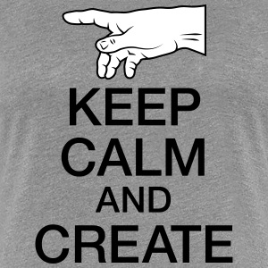 Keep Calm and Create Koszulki - Koszulka damska Premium