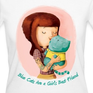 Girls love Cats. Blue Cats T-Shirts - Women's Organic T-shirt