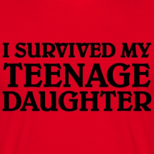 I survived my teenage daughter T-shirts - Herre-T-shirt