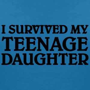 I survived my teenage daughter T-Shirts - Women's V-Neck T-Shirt