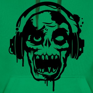 a zombie with headphones  Hoodies & Sweatshirts - Men's Premium Hoodie