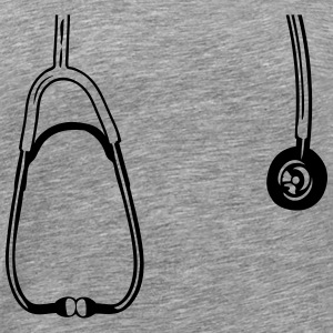 Listen with stethoscope around his neck T-Shirts - Men's Premium T-Shirt