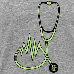 Stethoscope listening off pulse heart rate T-Shirts - Men's Premium T-Shirt