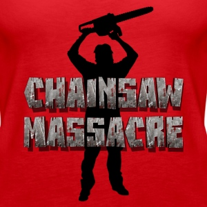 Chainsaw Massacre - Horror / motorsag morder  Topper - Premium singlet for kvinner