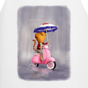 Rainy Scooter Kitty   Aprons - Cooking Apron